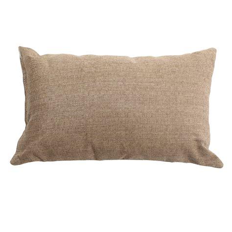 sunbrella outdoor pillows shop linen sesame sunbrella outdoor throw pillow 19 in x