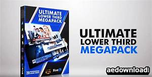 final cut pro lower thirds templates - 20 lower thirds mega pack after effects template bluefx