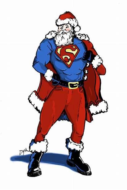 Santa Superheroes Claus Superhero Uci Super Weakness