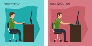 posizione seduta corretta posizione di seduta ergonomica di posizione corregga il