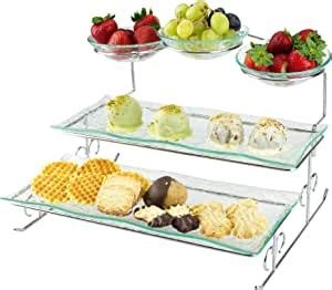 amazoncom  tier server stand  trays bowls tiered serving platter perfect  cake