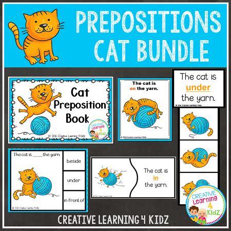 prepositions cat bundle digital