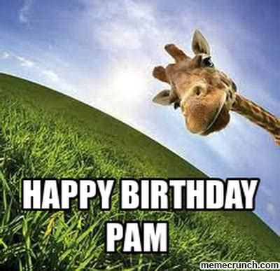 Pamela Meme - happy birthday pam