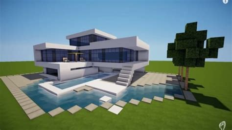modern minecraft mansion minecraft modern house modern home building mexzhouse