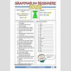 Grammar For Beginners Nouns (2)  Free Esl Worksheets  Useful Things  Pinterest Student