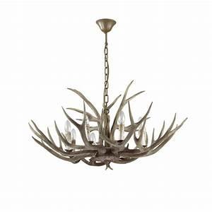 Lustre Bois Design : lustre 8 lampes design ideal lux chalet beige r sine ~ Teatrodelosmanantiales.com Idées de Décoration