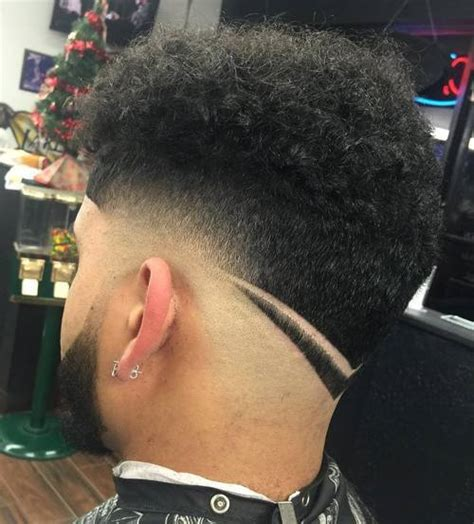 taper fade haircut with designs tapered nape haircuts hairstylegalleries 3451