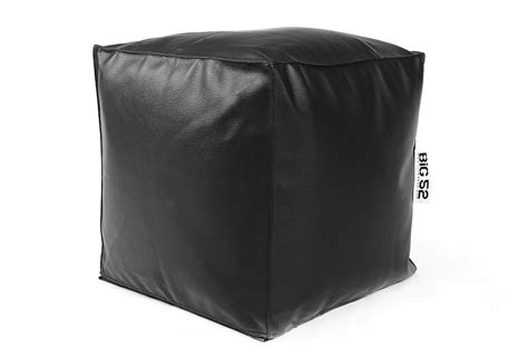 pouf cube cuir noir 224 75 pouf carr 233 livraison express