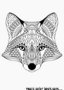 fox pattern cool coloring pages   girls mandala