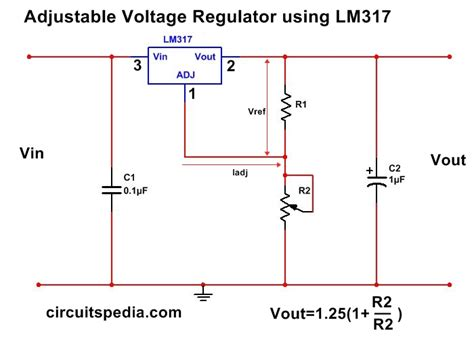 Adjustable Variable Voltage Regulator Circuit