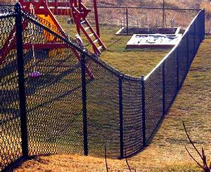 6 black vinyl coated chain link fence mn fence company With chain link fence paint colors