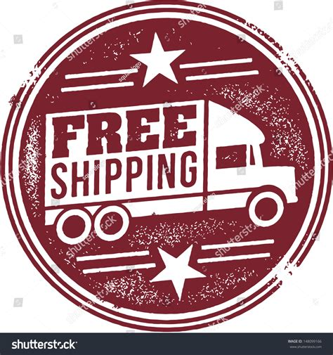 Free Shipping Retail Promotion Stamp Stock Vector