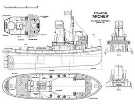 Mini Boat Drawing by Tug Boat Plans Ebay