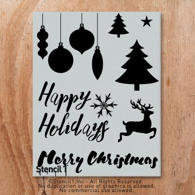 holiday stencil sheet  pack stencil diy stencil