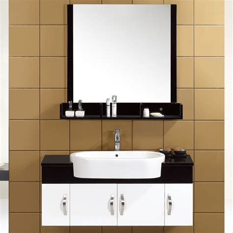 16mm solid wood small floating bathroom vanities