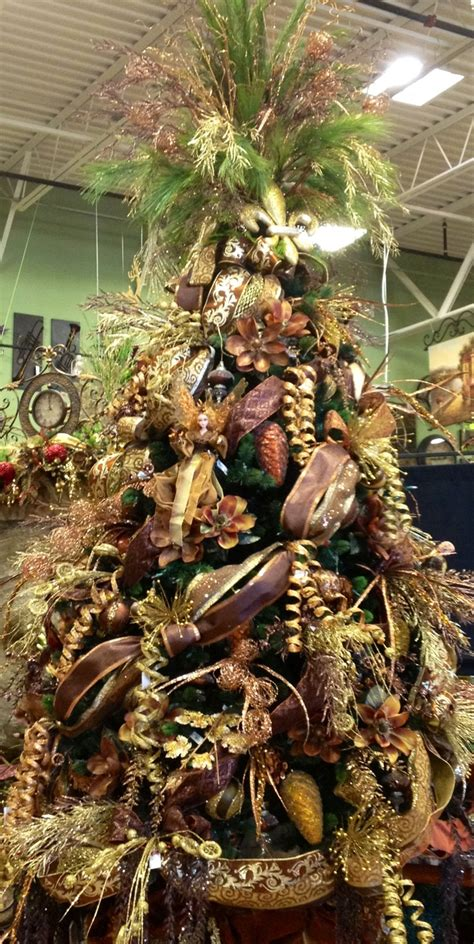 gold copper brown christmas tree christmas trees pinterest