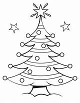 Christmas Coloring Pages Tree Printable Trees Print Sheets Decorated Labels Preschool Santa sketch template
