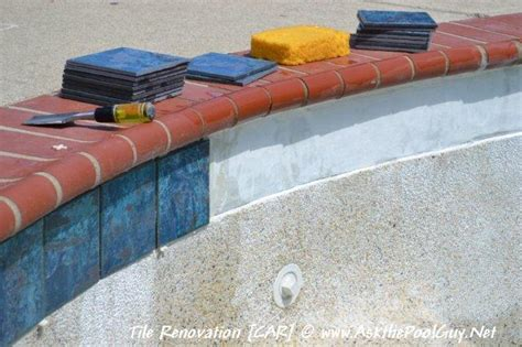 pool waterline tile replacement tile replacement on a gunite swimming pool