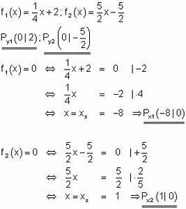 Schnittpunkt Zweier Geraden Berechnen Vektoren : l sungen lineare funktionen teil xiii ~ Themetempest.com Abrechnung