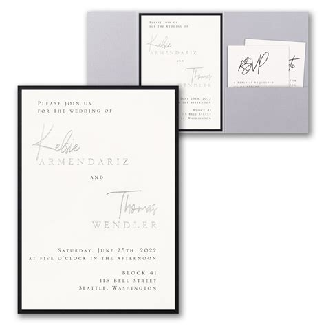 Modern Dreams Invitation with Pocket and Backer Modern