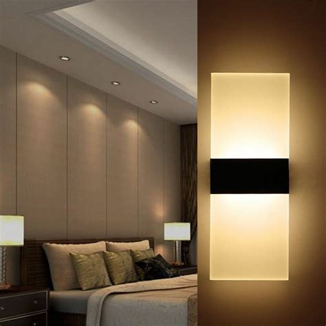 modern led wall light up cube indoor outdoor sconce lighting l fixture ebay
