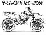 Dirt Coloring Bike Pages Yamaha Honda Via sketch template