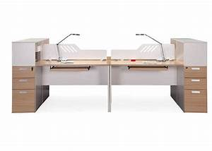 Mfc Wooden Office Partition Workstation Knock Down