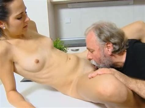 Dumb Teen Girl Lets Old Man Fuck Her Tight Shaved Pussy On