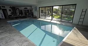 Piscines Semi Enterrées : belle piscine rectangulaire semi enterr e de r ve ~ Zukunftsfamilie.com Idées de Décoration