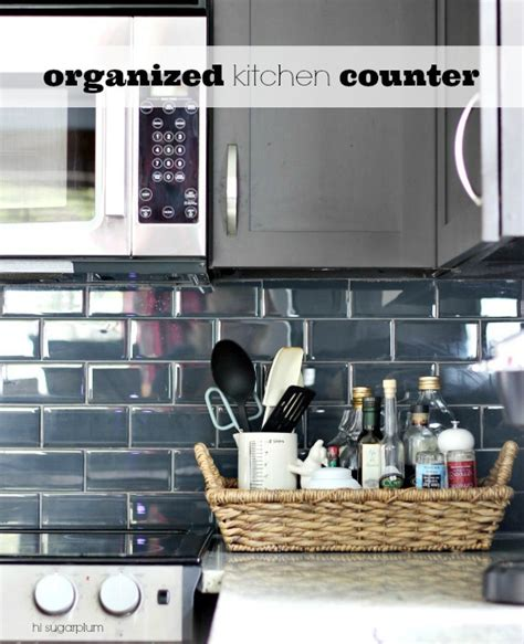 Hi Sugarplum! {organized} Kitchen Counters