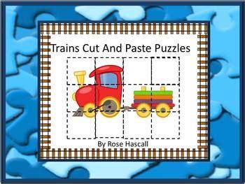 transportation cut  paste puzzles kindergarten