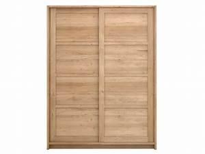 Armoire Bois Massif Porte Coulissante : oak knockdown armoire portes coulissantes by ethnicraft ~ Teatrodelosmanantiales.com Idées de Décoration