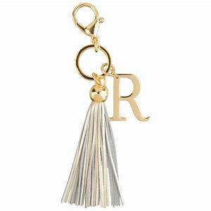 r letter leather tassel keychain bag charms richbud With letter bag charm
