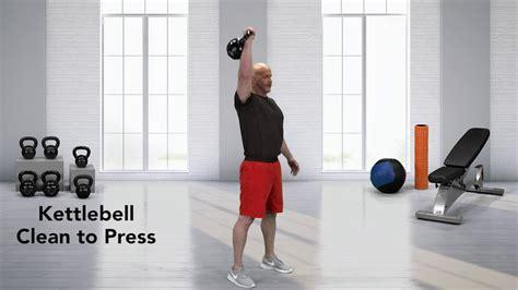 kettlebell clean press