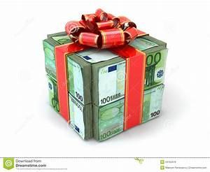 Cadeau Moins De 2 Euros : cadeau d 39 argent paquet des euros et du ruban rouge illustration stock illustration du ~ Teatrodelosmanantiales.com Idées de Décoration