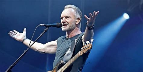 """Lead singer and bassist for the police who pursued a solo career distinguished by his sophisticated blend of jazz, pop, and world music. Sting - """"My Songs""""-Tour - 15.10.2021"""