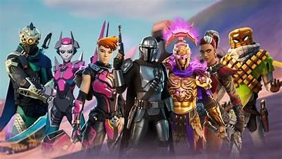 Fortnite Chapter Season Wallpapers Mandalorian Yoda Megathemes