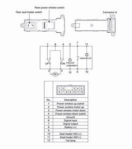 Wiring Diagram Power Windows  Rear