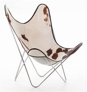 Fauteuil Peau De Vache : fauteuil aa de airborne structure inox peau de vache ~ Teatrodelosmanantiales.com Idées de Décoration