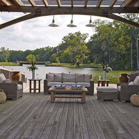 summer classics rustic seating summer house patio