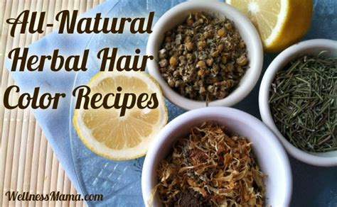 herbal recipes  color  hair