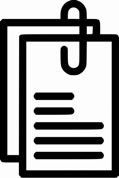 Documents Icon Attached Svg Transparent Onlinewebfonts Cdr