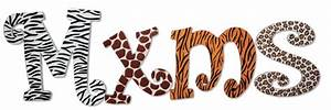 animal print custom painted letters With animal print letters