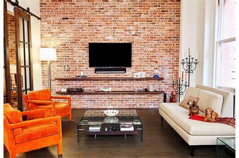 wood brick  refined panache modern industrial wall street loft