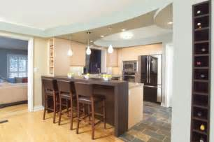 kitchen island bar ideas eclectic kitchen design with island bar and cool blue ceiling decoist
