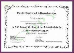 Continued medical edeucation for Certificate of attendance seminar template