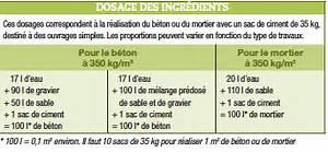 Dosage Pour Faire Du Beton : dosage beton dalle great la nous somme face la et il nuy ~ Premium-room.com Idées de Décoration