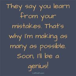 Funny Sayings About Mistakes