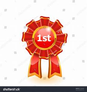 First Place Red Ribbon. Vector - 73044289 : Shutterstock