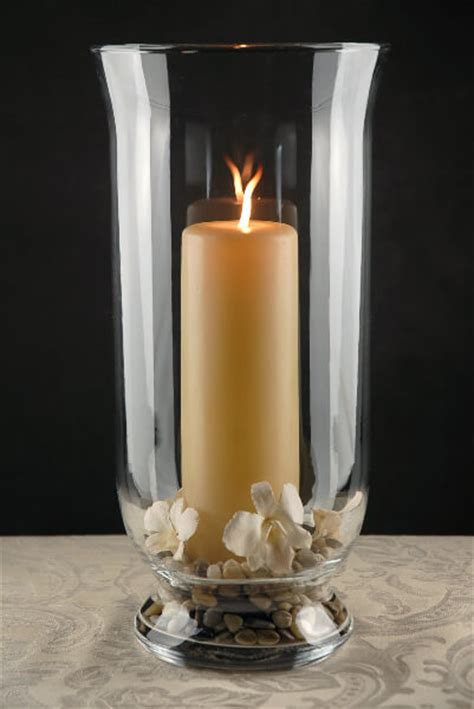 hurricane ls for candles clear glass hurricane vase 16in